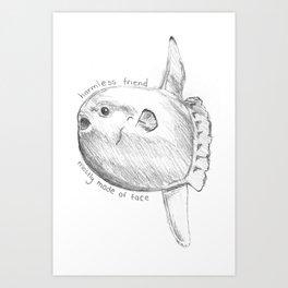 Sunfish is a Friend Art Print