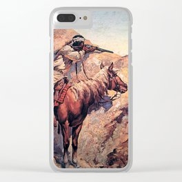 "Frederic Remington Western Art ""Apache Ambush"" Clear iPhone Case"