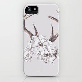 antler and magnolia iPhone Case