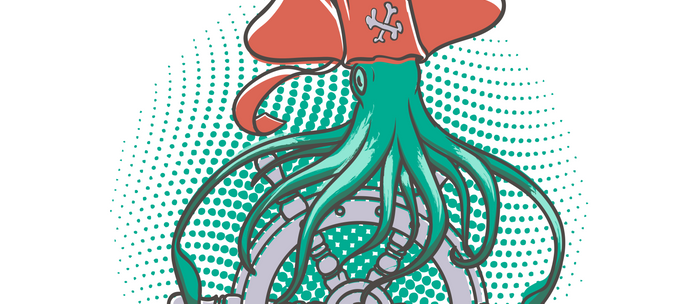 The squid pirate Coffee Mug