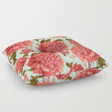 A Splash of Peony, A Dash of Color Floor Pillow