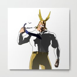 Real All Might Metal Print