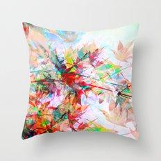 Abstract Autumn Throw Pillow