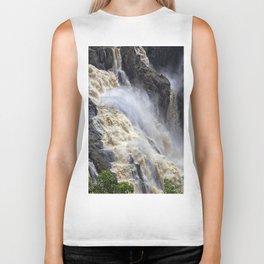 Raging thunder of the waterfall Biker Tank