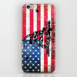Viper N Bullet Holes On Old Glory - Gadsden and American Flag iPhone Skin