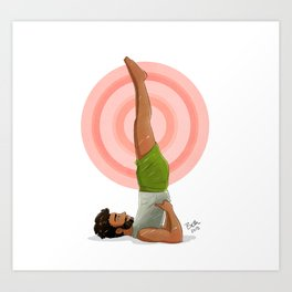 Shoulder Stand Art Print