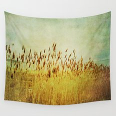 Winter Gold Wall Tapestry