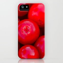 lingonberry berry pattern iPhone Case