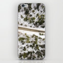 A Winter Road  |  Drone Photography iPhone Skin
