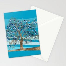 Nazar Charm Tree Stationery Cards