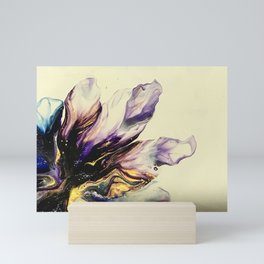 Purple Gold Flame Mini Art Print