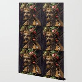 Four Seasons In One Head - Giuseppe Arcimboldo Wallpaper