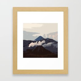 Mount Bromo Framed Art Print