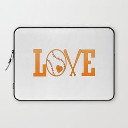LOVE BASEBALL Laptop Sleeve