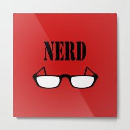 Nerd Glasses Metal Print
