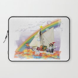 Penguins to South Pole Laptop Sleeve