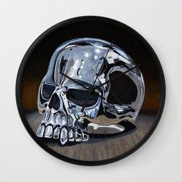 Evil Skull Ring Wall Clock