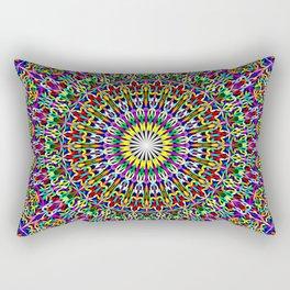 Floral Bohemian Magic Mandala Rectangular Pillow