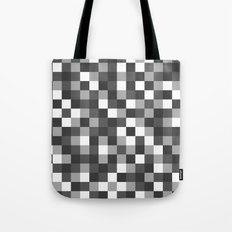 Colour Block Black and White Tote Bag