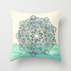 Mandala Mermaid Oceana Throw Pillow