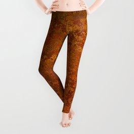 Vintage Copper Rust, Minimalist Art Leggings