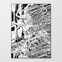 Cybernetic Nightmare Canvas Print