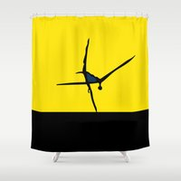 dancer Shower Curtains featuring Dancer by THE USUAL DESIGNERS