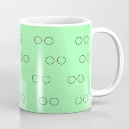 Glasses, Green Coffee Mug
