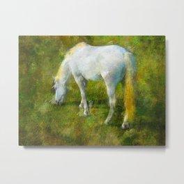Camargue Horse Metal Print
