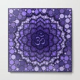 OM Symbol - Dot Art - purple palette Metal Print