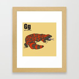 Gila Monster Framed Art Print