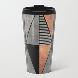 Concrete and Copper Triangles Metal Travel Mug