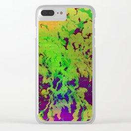 Flower glitch TV Clear iPhone Case
