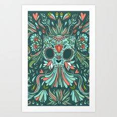 Calavera Cat Art Print