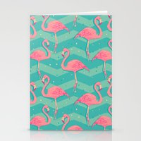 flamingo Stationery Cards featuring Flamingo by Julia