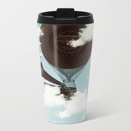 Swan Lake Up in the Air Metal Travel Mug