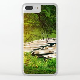 Sunlight At The Boathouse Clear iPhone Case
