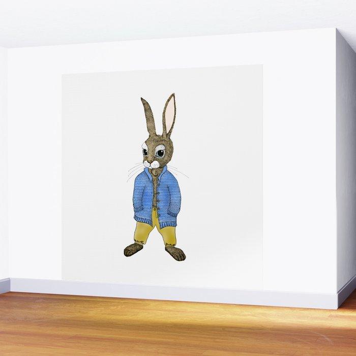 Peter Rabbit Growing Up Wall Mural