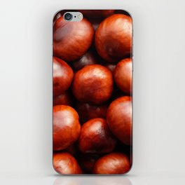 Red conkers iPhone Skin