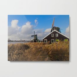 Dutch Windmill Metal Print