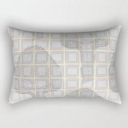 artichokes on a checkered background Rectangular Pillow