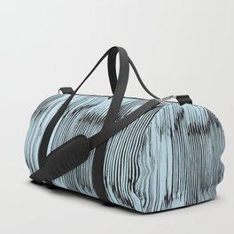 ikat stripe in pale sky Duffle Bag
