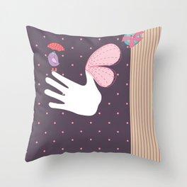 ScrapBird Throw Pillow