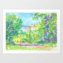 landscape with sea Art Print