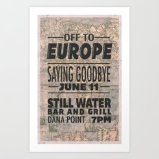 Off To Europe Art Print