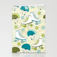 roller derby Stationery Cards featuring Roller Derby Rumble by Wild Notions