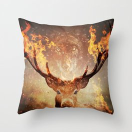 Internal flame Throw Pillow
