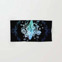 Surfing, tropical design with surfboard and flowers Hand & Bath Towel