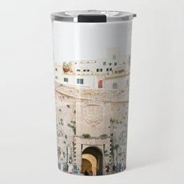 "Travel photography ""Entrance Eivissa Ibiza"" | Printable photo art Spain Travel Mug"