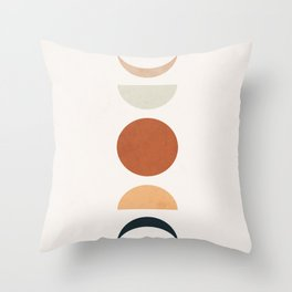 Boho Moon Throw Pillow